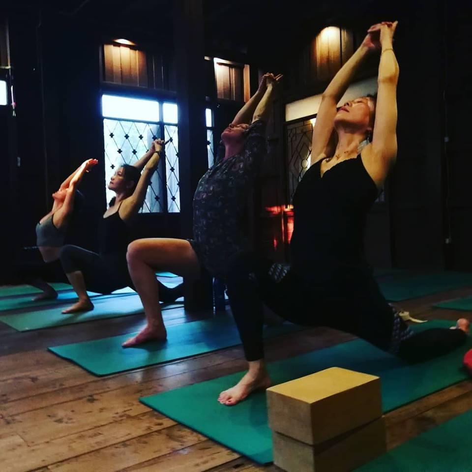 Best vinyasa yoga flow class in the Old City, Chiang Mai Thailand