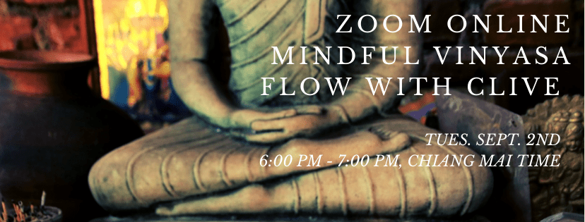 ZOOM LIVESTREAM MINDFUL VINYASA YOGA FLOW with CLIVE