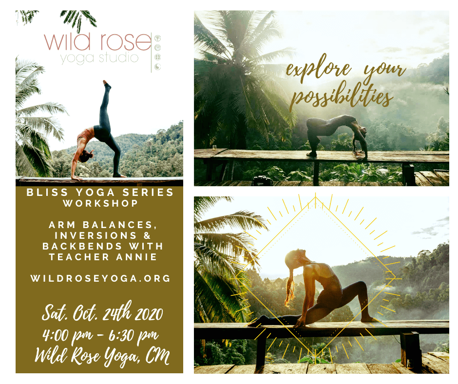 ARM BALANCES, INVERSIONS and BACKBENDS Bliss Yoga Series with Kru. Annie